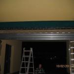 rolovací mříž montaž v noci